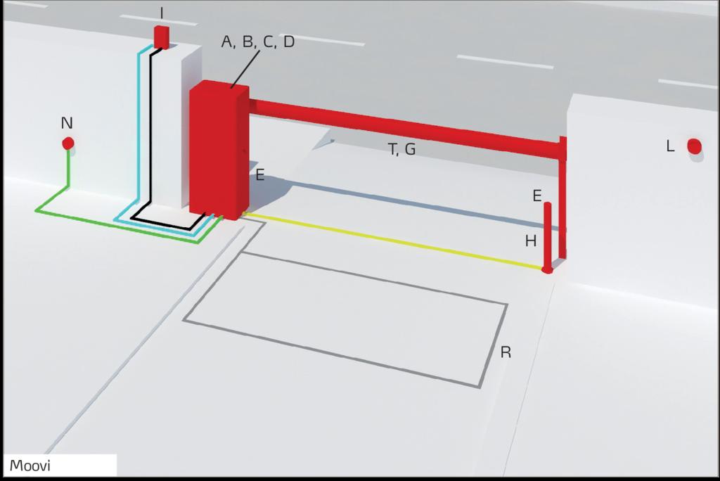 Paceļamā automātiskā barjera BFT MOOVI 30 garums līdz 3 metri