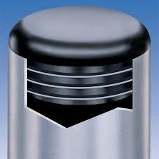 Plastmasas - vāciņi, cepurītes, korķi, caurulēm d-55mm