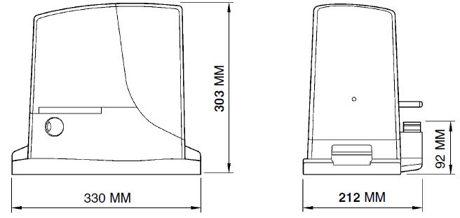 Bīdāmo vārtu automātika NICE ROX 600