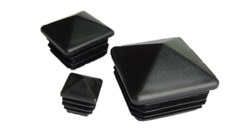 Plastmasas piramīdveida - vāciņi, cepurītes, korķi profilam 40x40mm
