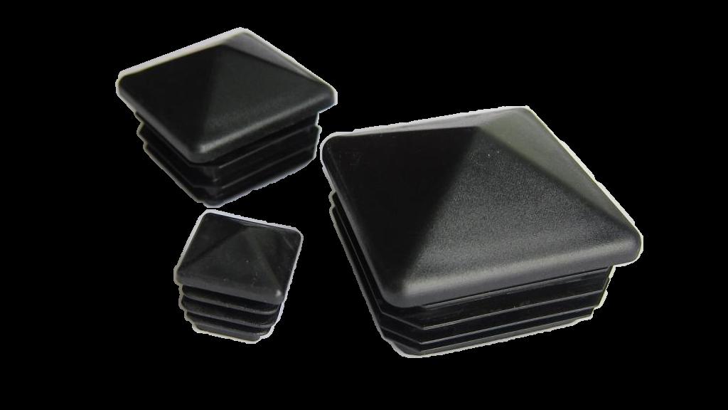 Plastmasas piramīdveida - vāciņi, cepurītes, korķi profilam 50x50mm